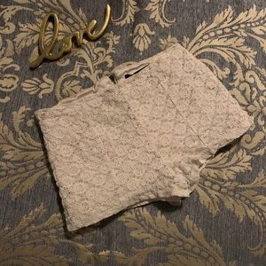 NWOT Forever 21 l Floral Lace Cream Shorts XS